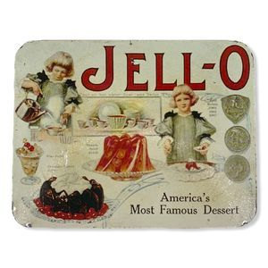 Vintage JELLO Reproduction Ad Tin Wall Hanging